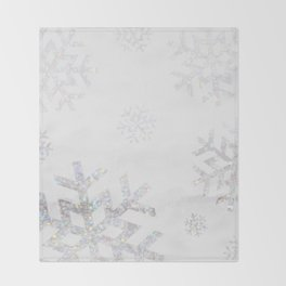 Snowflake Glitter Throw Blanket