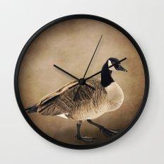 Canada Goose Portrait Wall Clock