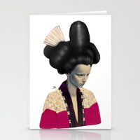 geisha Stationery Cards featuring Geisha by Albert Lee