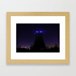 Nuclear Cooling Tower Framed Art Print