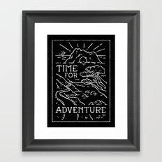 TIME FOR ADVENTURE (BW) Framed Art Print