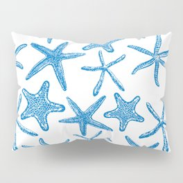 Sea stars in blue Pillow Sham