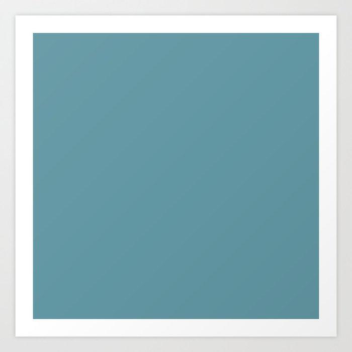 Solid Color Duck Egg Blue Teal Art Print