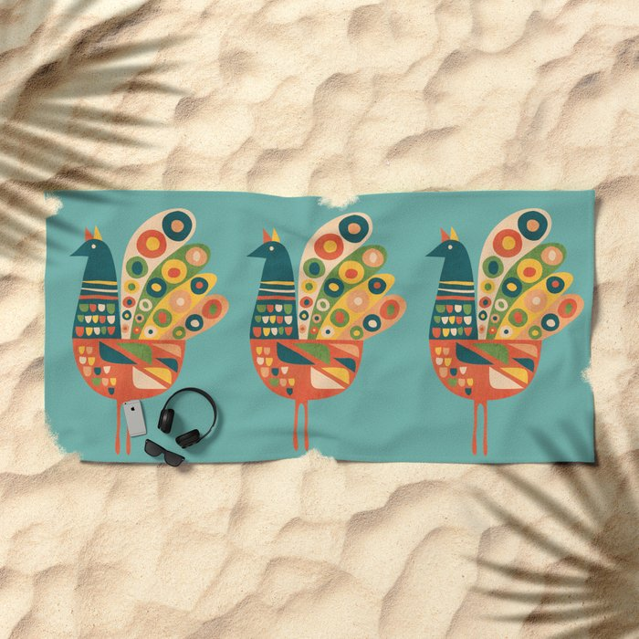 Century Hen Beach Towel