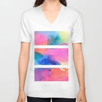 tie dye V-neck T-shirts featuring Tie Dye Original by HollyJonesEcu