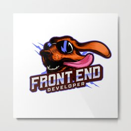 Front End Developer Metal Print