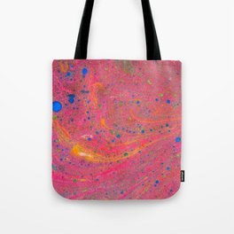 Marbling 3, Tie Dye Effect Abstract Pattern Tote Bag