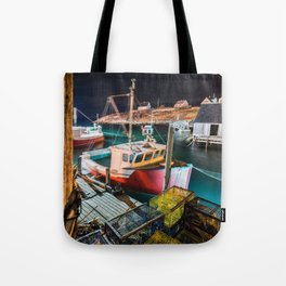 Peggy's Cove by Night Tote Bag