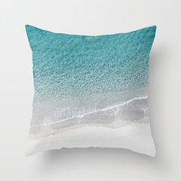 Drone Beach Throw Pillow