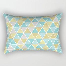 Triangulation (blue and green) Rectangular Pillow