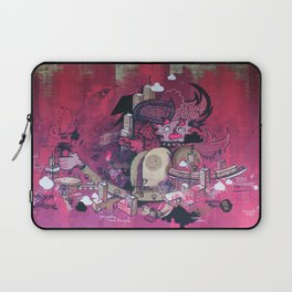 Dont Worry - Party Hard (Pink) Close Up Laptop Sleeve