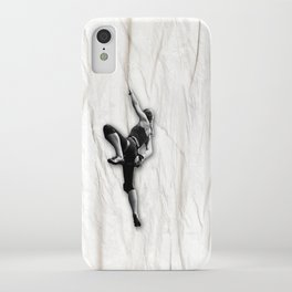 Woman Climbing a Wrinkle iPhone Case