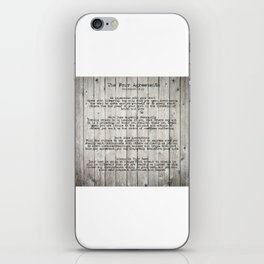 The Four Agreements iPhone Skin
