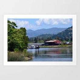 around the river bend Art Print
