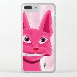 Lollipop the pinky cat Clear iPhone Case