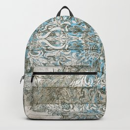 BLUE PATCHWORK MANDALA LA DENTELLE Backpack