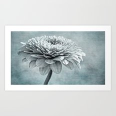 grey & blue Art Print