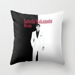 Satoshi Nakamoto Throw Pillow