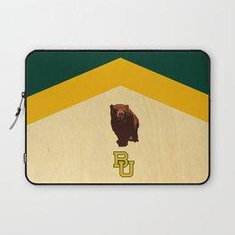 Baylor University - BU logo with bear Laptop Sleeve
