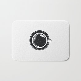 Cup of coffee with stars Bath Mat