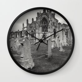 Melrose Abbey, Scotland Wall Clock