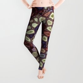 Fractal Gems 01 - Fall Vibrant Leggings