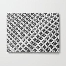 Canary Wharf Windows Metal Print