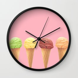 Frozen Flavors Wall Clock