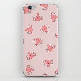 Crazy Happy Uterus in Pink, Large iPhone Skin