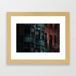 Apartment in Green Framed Art Print