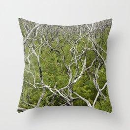bushfire trees Throw Pillow