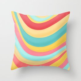 Candy Curves Throw Pillow
