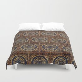 Grecian Bath House Tiles  Duvet Cover
