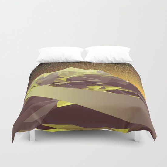 Night Mountains No. 9 Duvet Cover
