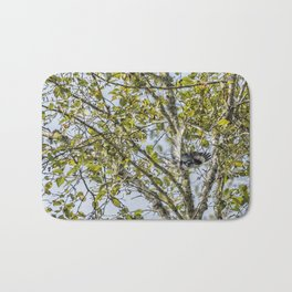 Belted Kingfisher in Flight, No. 1 Bath Mat