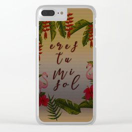 flower art Clear iPhone Case