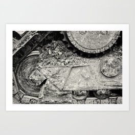Bulldozer Dirt Fest Art Print