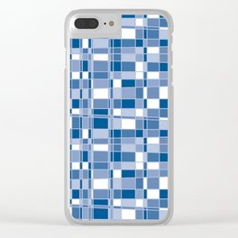 Mod Gingham - Blue Clear iPhone Case