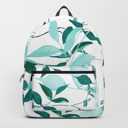 fresh green leaf pattern Backpack
