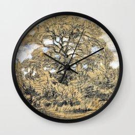Study Of An Oak Tree - Theodore Rousseau Wall Clock