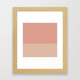 VINTAGE ROSE x PEACH Framed Art Print