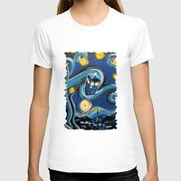 daenerys targaryen T-shirts featuring Tardis Starry Night by DavinciArt