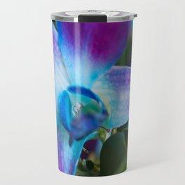 Purple and Blue Dendrobium Orchid Travel Mug