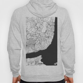 Lisbon Map Gray Hoody