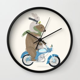 biker buddies Wall Clock