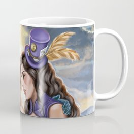 Steampunk Ms Mad Hatter and Alice in Wonderland Coffee Mug
