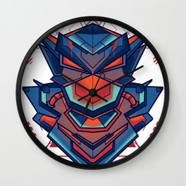 Robot Fighter Sacred Geometry Ornamental Wall Clock
