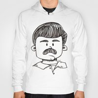 ron swanson Hoodies featuring Ron Swanson by art by arielle