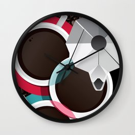 Coffee Cups Wall Clock