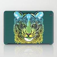 predator iPad Cases featuring Nocturnal Predator by Rachel Caldwell